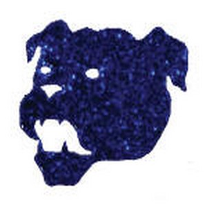 Cheer Makeup Bull Dog Glitter Stickers