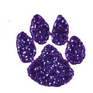 Cheer Makeup Paw Print Glitter Stickers