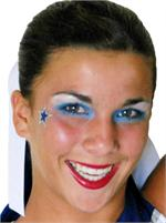 Cheer Makeup Glitter Star Stickers