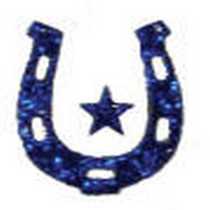 Cheer Makeup Horse Shoe Glitter Stickers