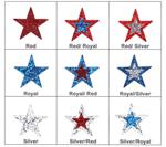 Cheer Glitter Star Stickers